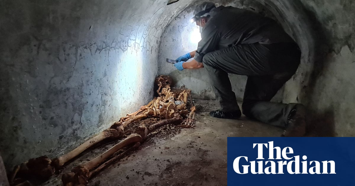 Human remains in tomb are best-preserved ever found in Pompeii