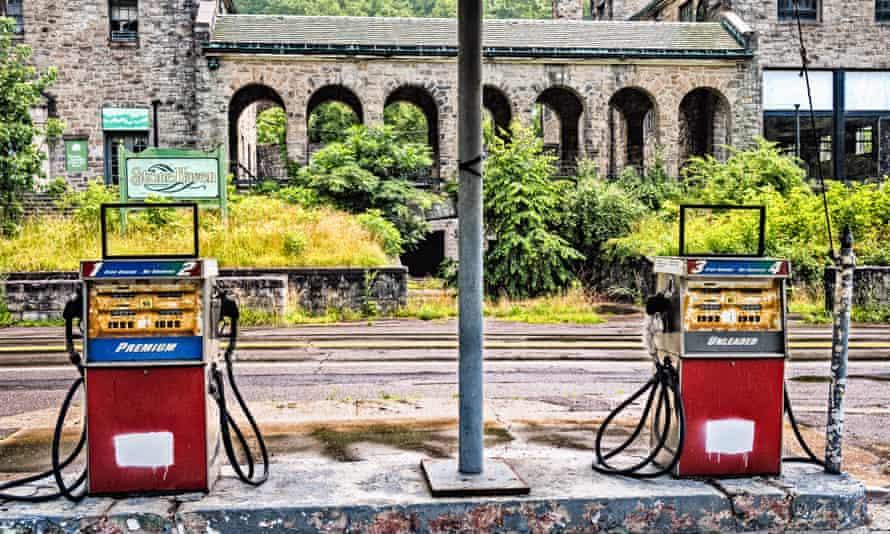 A closed petrol station in Itmann, West Virginia.