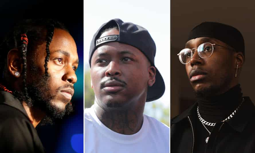 Kendrick Lamar, YG and Che Lingo.