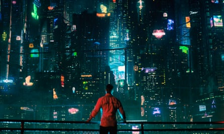 The paraphernalia of cyberpunk is all there ... Altered Carbon.