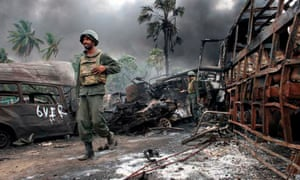 Government troops in the war zone near the town of Mullaittivu, Sri Lanka, in 2009.