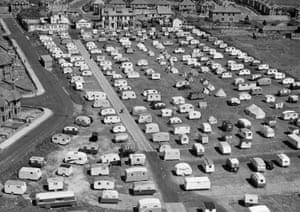 Caravans at the Bispham Lodge holiday camp, Norbreck, Blackpool, 1946