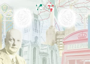 Architect Sir Giles Gilbert Scott who designed Liverpool Cathedral, Battersea Power Station and the red telephone box