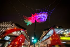 1.8 London by Janet Echelman/Studio Echelman at Oxford Circus.