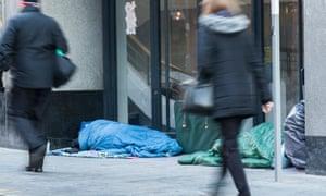 homeless people who sleep on the street in Birmingham