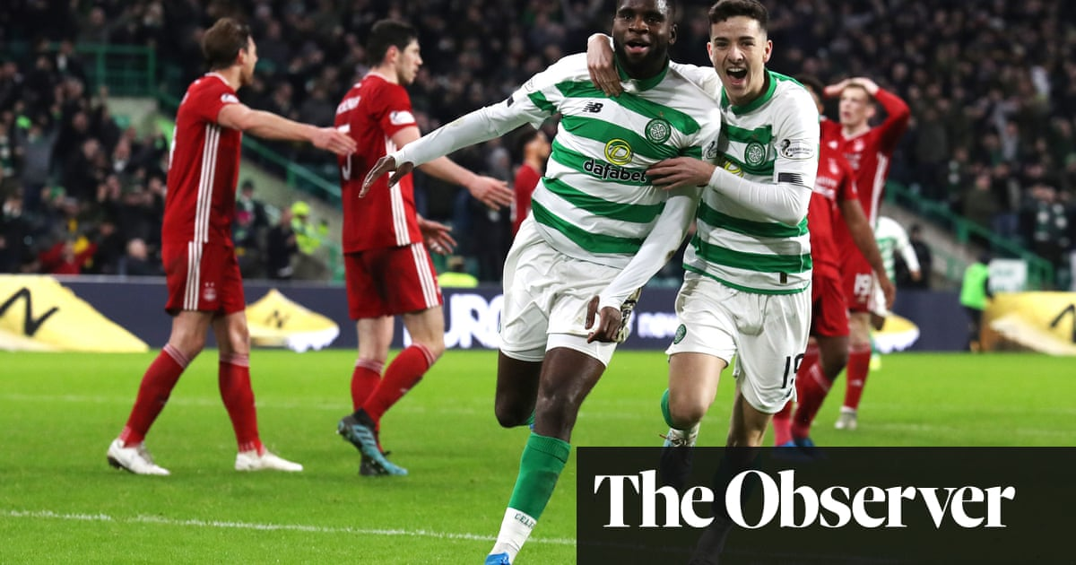 Édouard's strike hands Celtic win over Dons and renews five-point gap