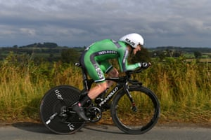 Edward Dunbar during the men's individual time trial at the UCI Road World Championships 2019.