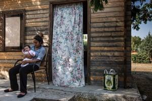 A migrant family from Kobani, Syria at the Pipka informal camp in Mytilini, Lesvos