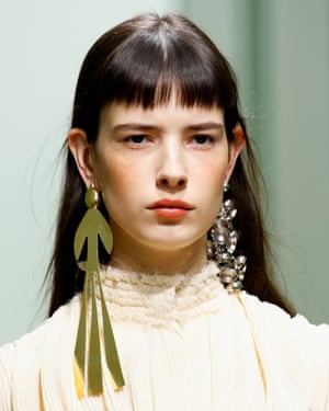 Odd danglers … J.W. Anderson earrings, spring/summer collection, London fashion week 2016.