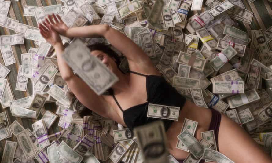 Rolling in it ... Emree Franklin as Heather Tallchief in Heist.