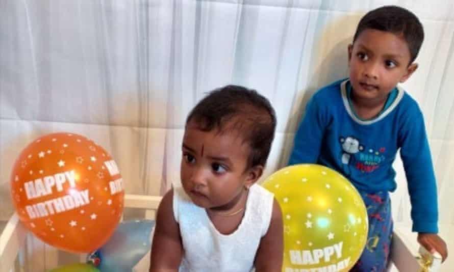 Pavinya , aged 19 months, and Nigish, aged three.