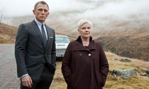 Mythic … Daniel Craig and Judi Dench in Skyfall.