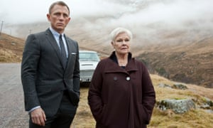 Craig as James Bond and Judi Dench as M in Skyfall.