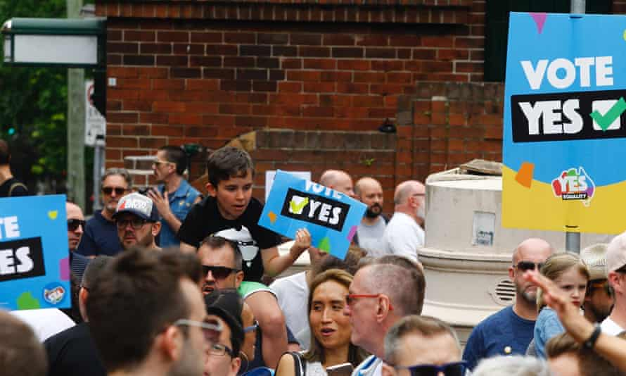 Yes campaign rally