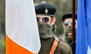 An Easter Rising commemorative march by the Irish Republican Socialist party in 2015