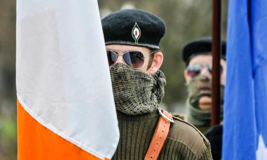 An Easter Rising commemorative march by the Irish Republican Socialist party