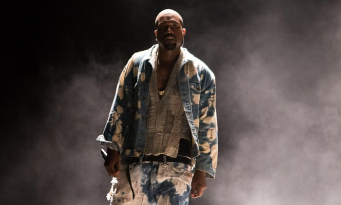 Kanye West At Glastonbury 2015 Review Out On His Own Music The Guardian