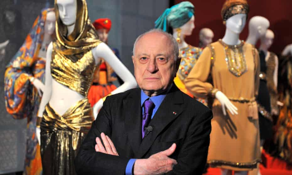 Pierre Bergé at an exhibition to celebrate the work of Yves Saint Laurent in Paris in 2010.