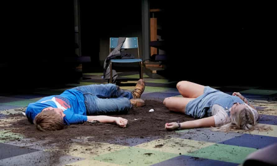 Rhys Isaac-Jones and Nicola Coughlan in Jess and Joe Forever at the Orange Tree theatre.