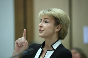 Minister for Small Business Michaelia Cash before the senate Education and Employment committee.