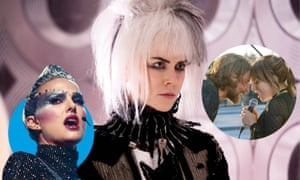 Natalie Portman in Vox Lux; Nicole Kidman in How to Talk to Girls at Parties; Bradley Cooper and Lady Gaga in A Star Is Born.