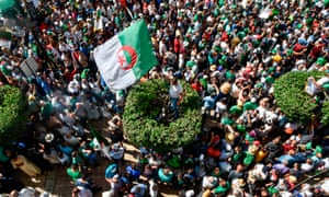 Protesters in the Algerian capital