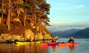 Sea kayaking in the Highlands of Scotland