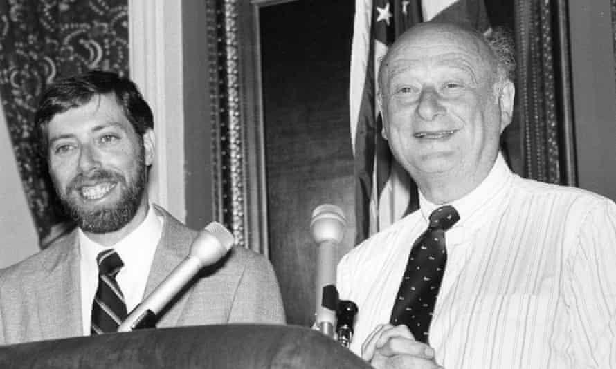 Sam Schwartz with longtime New York mayor Ed Koch