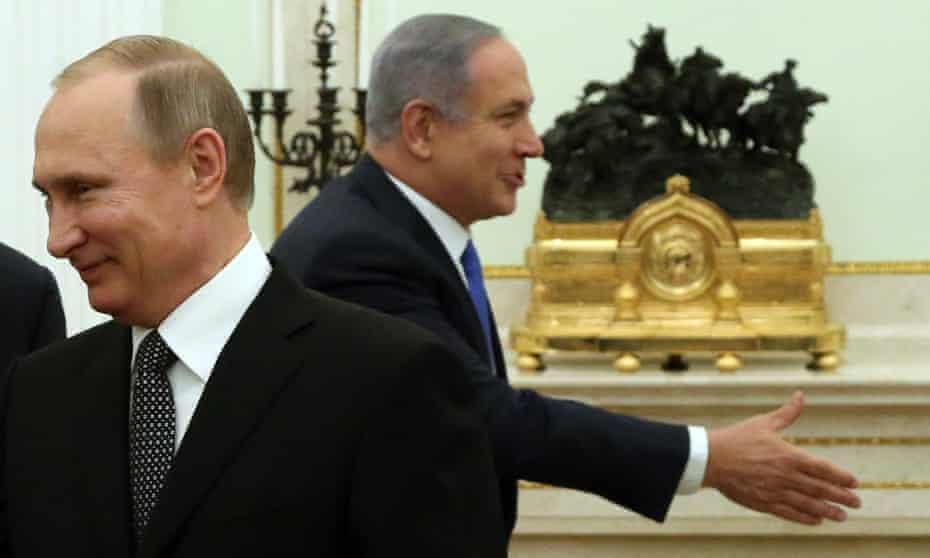 Russian President Putin Meets Israeli Prime Minister Netanyahu at the Kremlin on 21 April 2016.