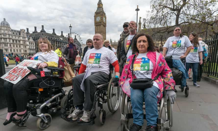 Disabled People against Cuts (DPAC) protest in central London.