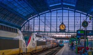 France, Nouvelle Aquitaine, Gironde, Gare Saint Jean railway station at Bordeaux