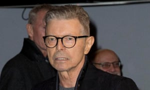 Bowie in New York in December for the premiere of the musical Lazarus.
