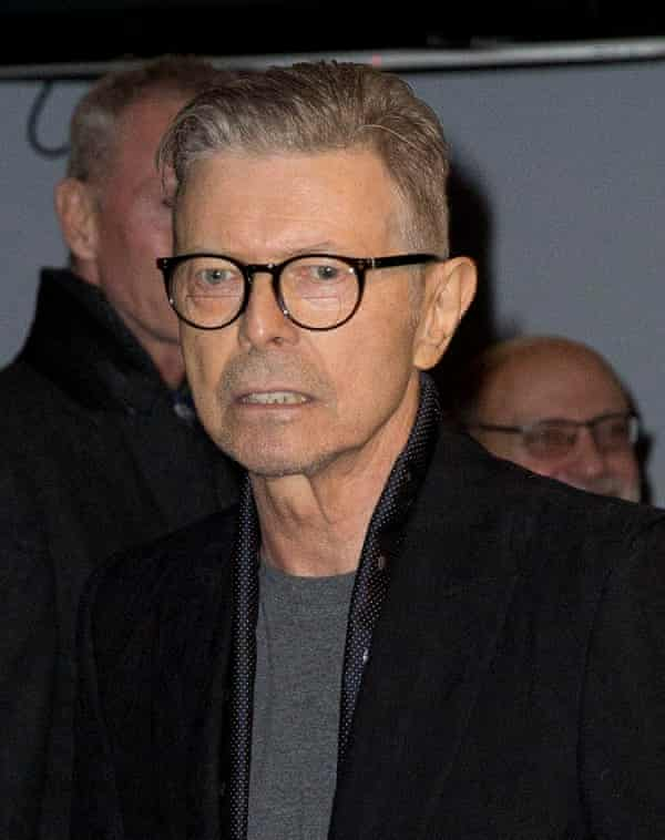 David Bowie at the New York premiere of Lazarus in December.