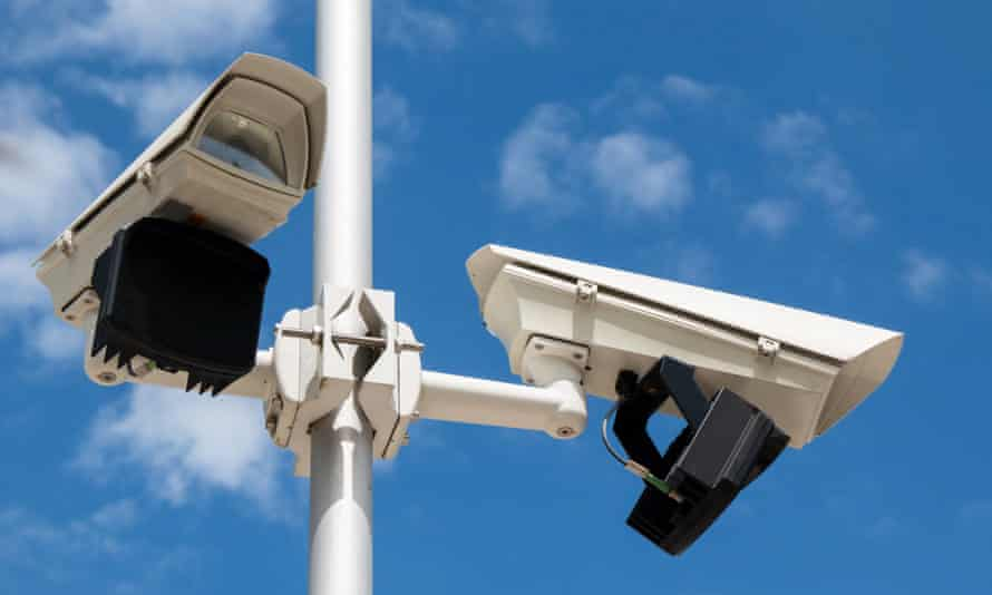Two CCTV security cameras.