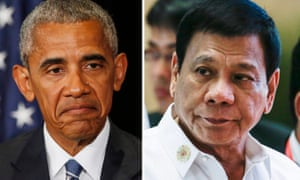 US-Philippines relations have been soured by comments about Barack Obama by his opposite number Rodrigo Duterte.