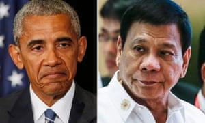 Barack Obama and Philippines president Rodrigo Duterte. 'All's well that ends well,' said a Philippine senator.