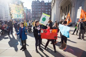 Hundreds of students gather to protest at St Peter's Square, Manchester