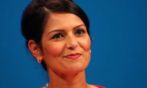 Priti Patel addressing the Conservative party conference this year. She had been talked about as a future party leader.