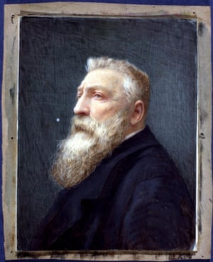 A painting of the sculptor Rodin that had been wrongly captioned as being Leopoldo II of Belgium