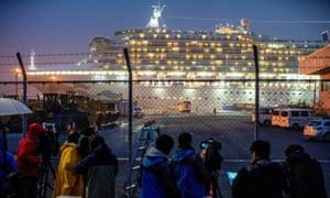 The cruise ship Diamond Princess