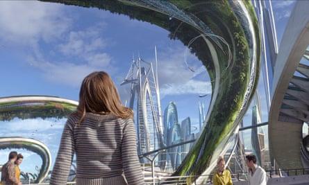 A scene from Disney's 2015 film Tomorrowland