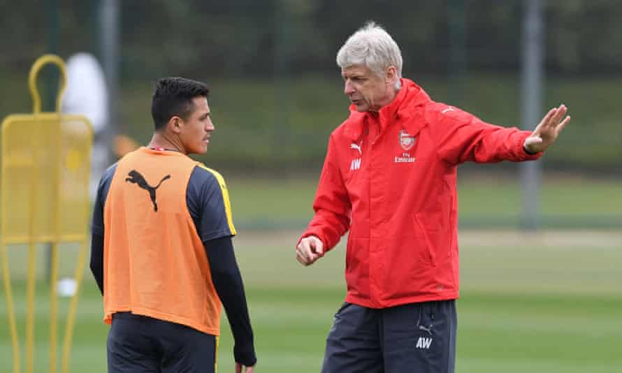 'Why would you sell him to another Premier League club? You want to be as strong as you can and not strengthen other teams,' said Arsène Wenger, right, of Alexis Sánchez.