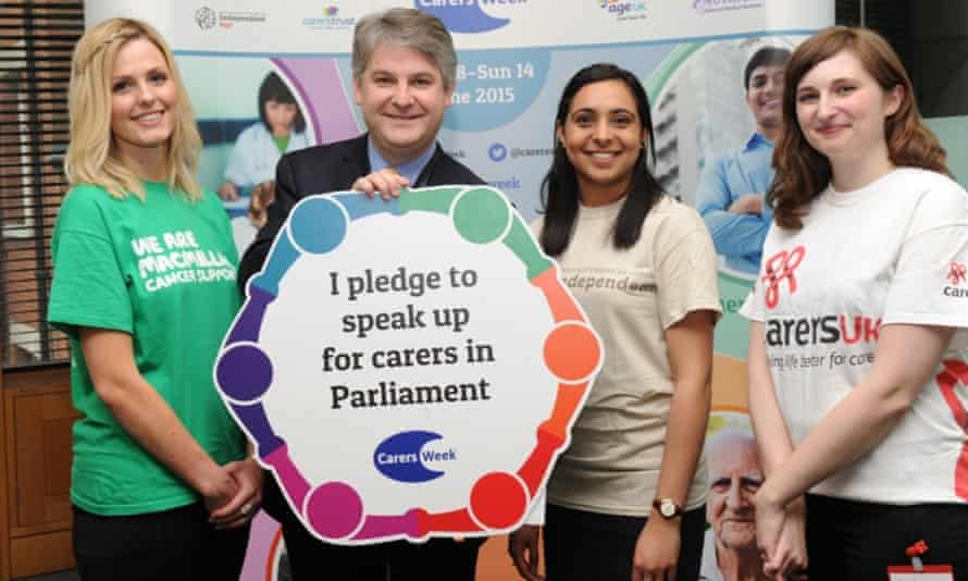 Filibustering Philip Davies MP pledged his support to carers as part of the national Carers Week 2015 awareness campaign, in June.