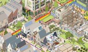 Igloo has proposed car-free, self-build estates with communal gardens