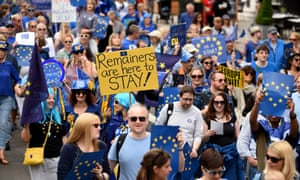 An anti-Brexit rally in London in September.
