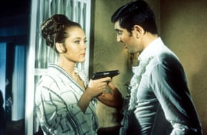 Rigg with George Lazenby in On Her Majesty's Secret Service.