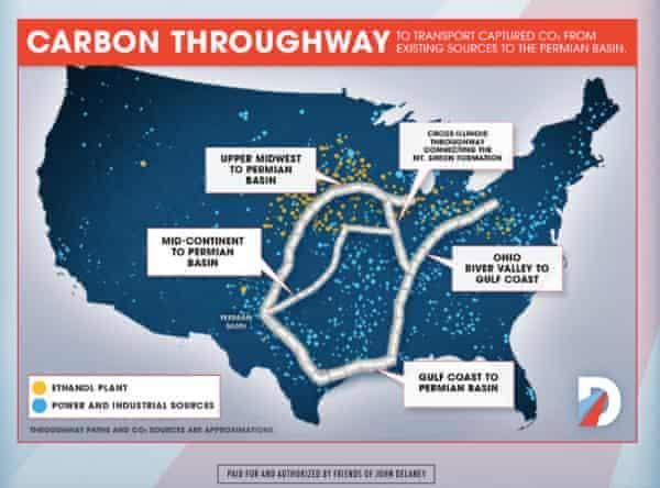 John Delaney's carbon throughway plan.
