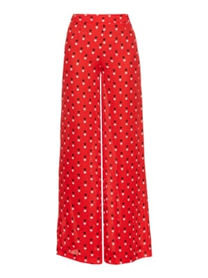 Silk trousers, £555, by Christopher Kane.