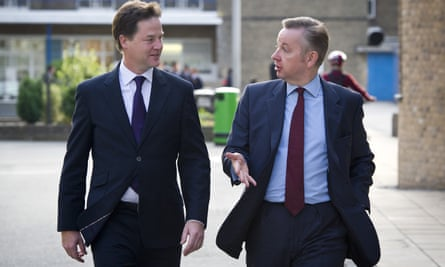 Nick Clegg opposed Michael Gove's plans for a two-tier GCSE.
