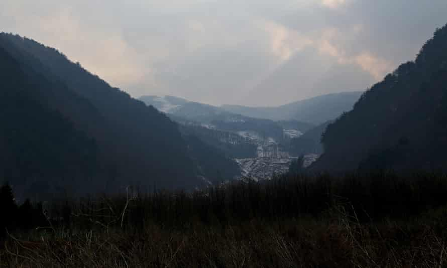 The proposed site of the Jeongseon Alpine Centre for the Pyeongchang 2018 Winter Olympics, South Korea.